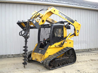 Track Drive Skid Steer with Post Hole Digger
